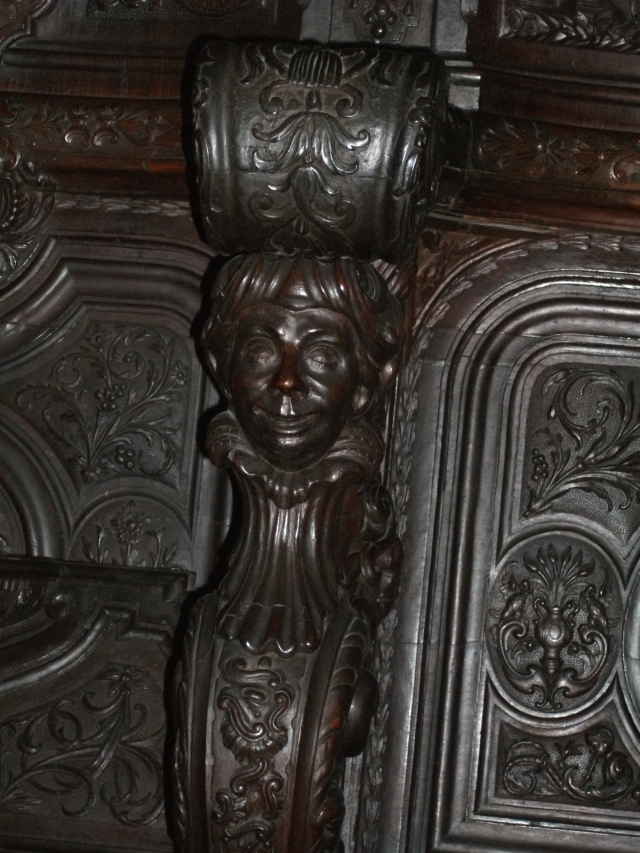 Cordoba cathedral choir stall carving