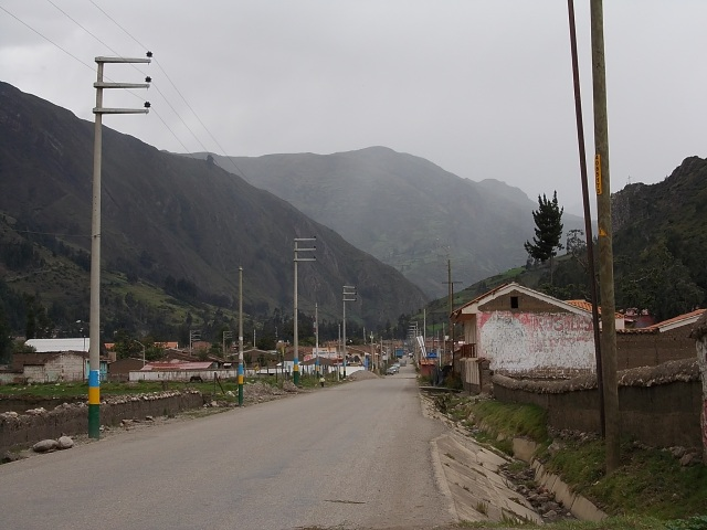 The town of Chavin de Huantar
