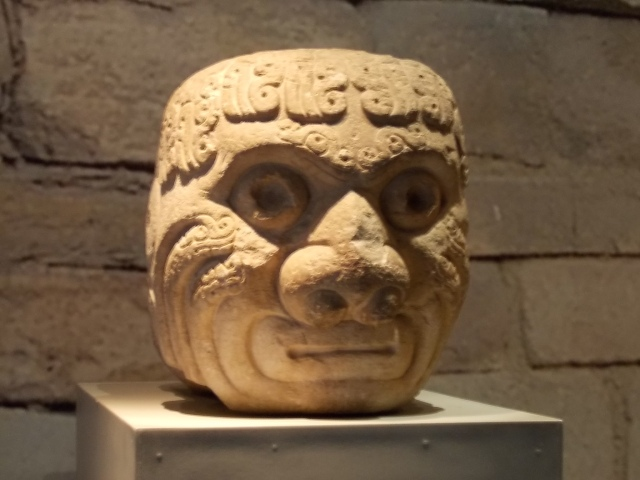 Chavin - stone head from temple walls