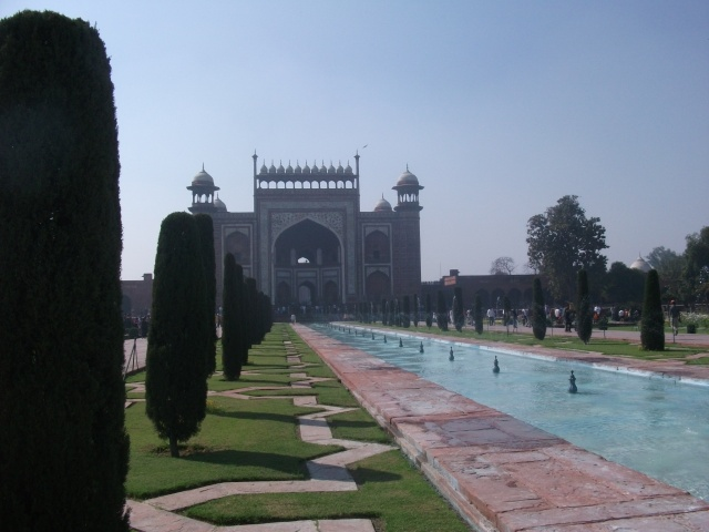 Taj Mahal - garden central water channel