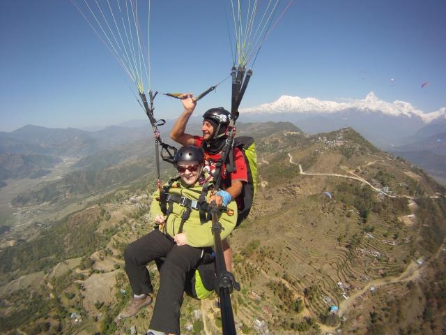 paragliding over Pokarah