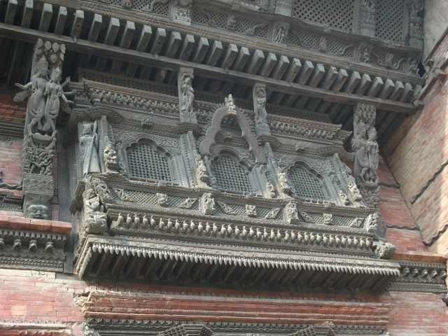 Kathmandu Durbar Square - decorative woodwork