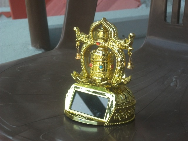 my solar powered prayer wheel